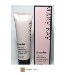 NEW Mary Kay Matte-Wear Liquid Foundation Beige 8